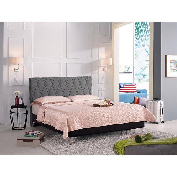 床架 床底 法莉嘉5尺雙人床(灰色布)(18CM/160-4)【DD House】