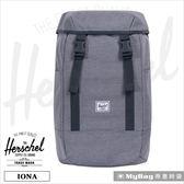 Herschel 後背包 15吋 休閒電腦後背包 兩側平口袋 麻花灰 Iona-2137 得意時袋 (新版)