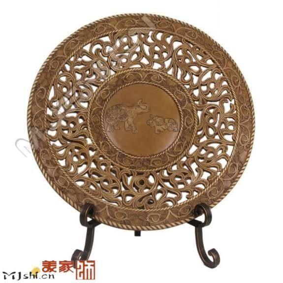 歐式居家工藝飾品/東南亞佛像/鏤空擺飾盤