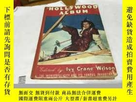 二手書博民逛書店THE罕見HOLLYWOOD ALBUM 英文原版四十 塵斑 好