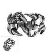 鈦鋼戒指 魔爪-歐美個性龐克霸氣生日情人節禮物男飾品73le8【時尚巴黎】