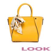LOOK- EMMA艾瑪-浪漫女孩-造型手提包-開朗黃