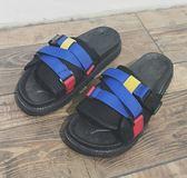 夏季拖鞋男潮流涼拖男士室外一字拖休閑沙灘鞋 BF475【旅行者】