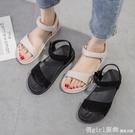 涼鞋 2021夏季新款韓版百搭涼鞋女平底鞋夏款防滑軟底孕婦媽媽學生女鞋 618購物節