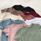 現貨-T恤-9色高彈純色舒適短袖上衣 Kiwi Shop奇異果0907【SZZ7850】