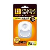 LED光感旋轉90度小夜燈 黃光