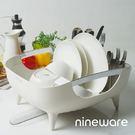 韓國nineware 簡約碗盤瀝水籃...