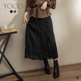 東京著衣【YOCO】流行風貌輕柔雪紡皺皺長裙(191647)