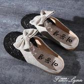 包頭半拖鞋女新款拖鞋女夏外穿平底無後跟懶人鞋女涼拖穆勒鞋 范思蓮恩