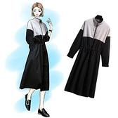 現貨LXL秋裝新款大碼女裝加肥加大顯瘦風衣外套胖妹妹連衣裙6062(F3118)