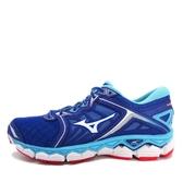 Mizuno Wave Sky [J1GC170201] 男鞋 運動 慢跑 路跑 休閒 舒適 避震 彈性 美津濃 藍白