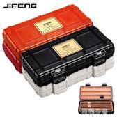 雪茄盒 JIFENG雪茄盒便攜式旅行雪鬆木雪茄盒保濕盒實木專業2支裝JF-083 雙11
