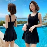 泳衣女2020新款性感泡溫泉顯瘦遮肚連身裙式小胸聚攏韓國游泳裝 町目家