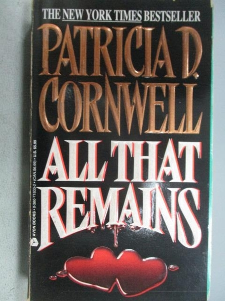 【書寶二手書T1/原文小說_MOF】All That Remains_Patricia D. Cornwell