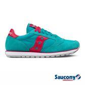 SAUCONY JAZZ LOWPRO 經典復古女鞋-土耳其藍x紅