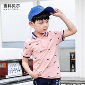 夏季童裝polo短袖男童棉t恤中大童翻領體恤兒童上衣小男孩薄款