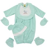【愛的世界】純棉耳帽長袖兩用嬰衣5件組禮盒/3~6個月-台灣製- ★禮盒推薦