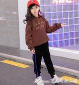 女童運動褲冬季款雙面絨休閒褲子加絨中大童金絲絨加厚外穿保暖褲 艾美時尚衣櫥