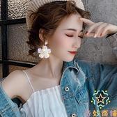 耳環潮歐美韓國氣質大耳釘女奢華高級感夸張水晶花朵【奇妙商鋪】