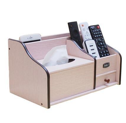 紙巾盒木質抽紙盒中式多功能家用客廳簡約茶幾桌面遙控器餐巾收納