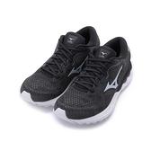 MIZUNO WAVE SKYRISE 2 慢跑鞋 黑/冷冽銀 J1GD210905 女鞋