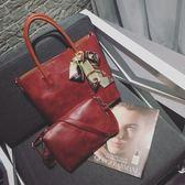 大包包新品女包歐美子母包編織手提單肩側背包斜背包包 聖誕交換禮物