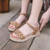 韓版時尚羅馬涼鞋百搭平底鞋度假沙灘鞋女鞋海邊
