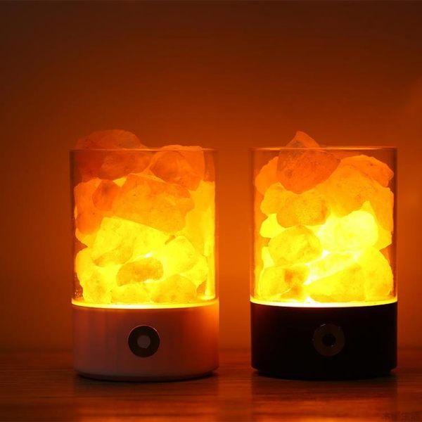 水晶鹽石燈 負離子空氣凈化燈助眠伴睡臥室小鹽燈MUYOU-B509