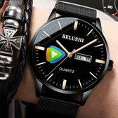 手錶男學生男士手錶運動石英錶防水時尚潮流全自動機械錶YJT  【快速出貨】