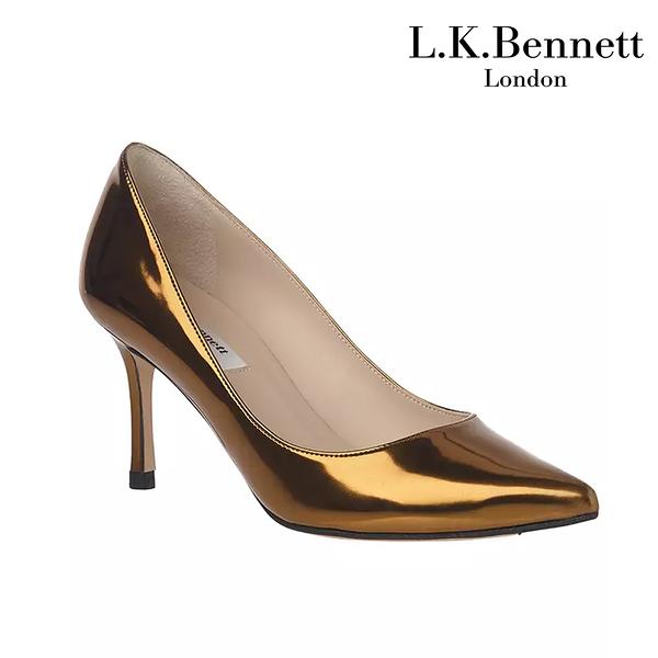 【L.K. BENNETT】凱特王妃摯愛 必搭鞋類 BIANCA經典尖頭高跟鞋-金 (原廠公司貨)
