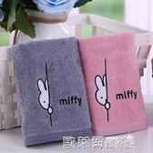 毛巾 金號純棉毛巾 2條裝 成人兒童家用洗臉面巾柔軟吸水卡通情侶一對 歐萊爾藝術館