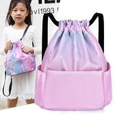 兒童舞蹈包後背包兒童書包尼龍防潑水訓練舞蹈背包培訓束口袋小包 韓國時尚週