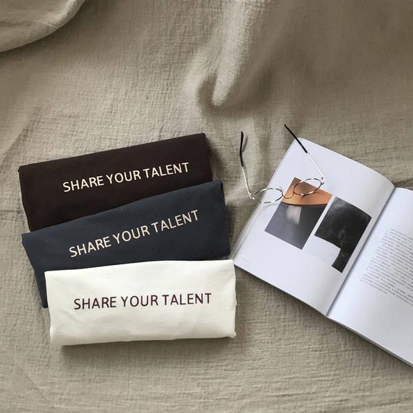 潮T 情侶T 情侶裝  純棉短T MIT台灣製【Y0882-9】短袖share your talent 分享你的才華 快速出貨 艾咪e舖
