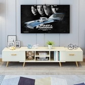北歐電視櫃簡約現代組合套裝茶幾臥室電視機櫃伸縮小戶型客廳櫃 ATF安妮塔小舖