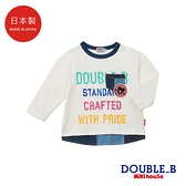 DOUBLE_B 日本製 拼接口袋長袖T恤