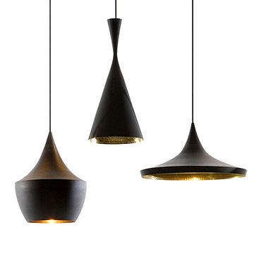 英國 Tom Dixon Beat Black Light Series Suspension Lamp 黑澤 吊燈