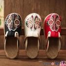 熱賣草編鞋 20新款拖鞋女外穿民族風女鞋平底刺繡復古涼拖草編鞋學生夏季繡花 coco