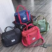 旅行包出差帆布手提包大容量行李袋健身便攜套拉桿登機包【邻家小鎮】