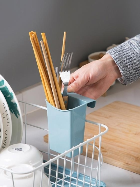 瀝水架鐵藝放碗架廚房碗盤收納架餐具架子碗筷置物架收納籃wy 快速出貨