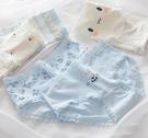 藍色小兔純棉三角褲5件組.少女內褲.萌萌豬生活館