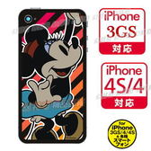 【玩之內】日本製迪士尼米妮復古iphone 4/3GS/4S手機背面保護貼裝飾貼173238