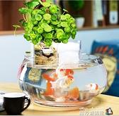 圓形魚缸過濾器三合一循環泵上濾滴流盒小型瀑布靜音圓陶瓷缸過濾 魔方數碼