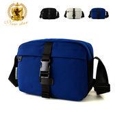 側背包 簡約素面前扣防水口袋斜背包包 NEW STAR BL152