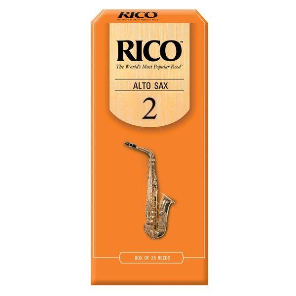 【2號中音薩克斯風竹片】【美國 RICO】【Alto Sax】【25片/盒】  【橘包裝】