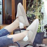 大尺碼女鞋 冬季平底雪地靴女韓版棉鞋40 41 42 43 44特大碼女鞋 nm15696【甜心小妮童裝】