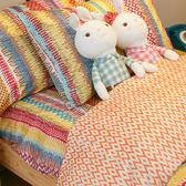 【預購】吃一口彩虹  單人床包與雙人新式兩用被4件組(搭配雙人6*7被單)  100%精梳棉  台灣製