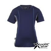 PolarStar 男 抗UV排汗圓領T恤『深藍』P17147 台灣製造│吸濕排汗透氣│T-shirt│短袖運動服
