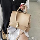 手提包 韓版時尚小包包新款潮青高級感手提女包斜挎百搭小方包 快速出貨