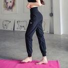 速乾運動褲 大碼跑步健身房200斤胖mm瑜伽高腰休閒女寬鬆束腳收口運動褲