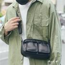 男士復古腰包時尚PU皮胸包斜背包休閒包小斜背手機韓版單肩包男包【快速出貨】